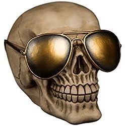 OOTB - Diseño con gafas de sol doradas, color beige