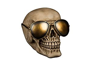 OOTB- Hucha Calavera con Gafas de Sol Doradas, Color Beige (out of The Blue KG 1)