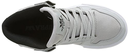 Supra Unisex-Kinder Vaider Sneaker Gris (Light Grey/Black/White)