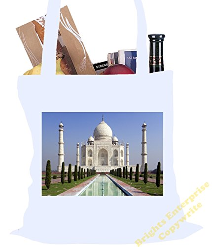 tote-shopping-gym-beach-bag-69-with-an-image-photo-of-the-taj-mahal-india-size-38-x-42-cm-10-litres-