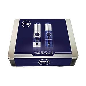 NIVEA MEN Lata Active Age con 2 cremas de día y noche, caja de regalo para el cuidado de la piel, kit de regalo para…