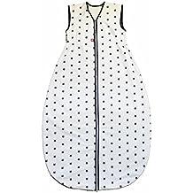 Linden Saco de dormir de Verano largo, diseño de estrellas color blanco