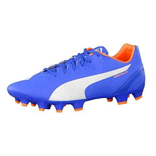 Puma evoSPEED 4 Head To Head FG Fußballschuh Herren electric blue  lemonadewhiteorange clown fish