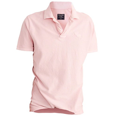 abercrombie-mens-garment-dye-slit-fit-big-icon-polo-shirt-tee-size-m-pink-626155864
