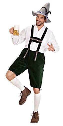 Karneval-Klamotten Kostüm Lederhose Herren Trachten-Hose Oktoberfest Bayer Bayern-Hose Tiroler-Hose Herrenkostüm Größe 52