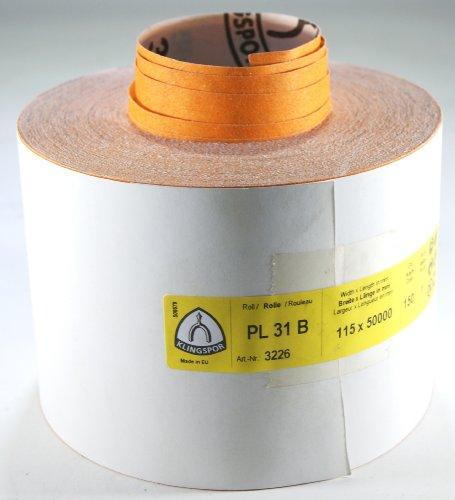 Klingspor PL31B-3226 Schleifpapier auf Rolle, 115 mm, K 150, 50 m, E 447 145
