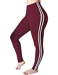d17aa91e3a7c FNKDOR Autumn Fashion Womens Gym Outdoor Sport Running Yoga Slim Mid Waist  Striped Trousers Ladies Casual