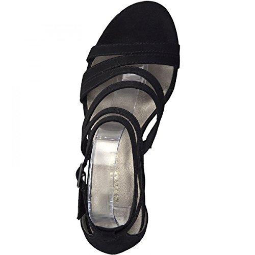 Tamaris 1-28319-20 Sandales Pour Femmes Schwarz