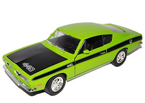 Barracuda-auto-modell (Plymouth Barracuda 1969 Coupe GrÜn Cuda 1/18 Yatming Modellauto Modell Auto)