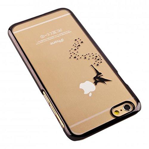 ECENCE APPLE IPHONE 4 4S CASE COVER SCHUTZ-HUELLE SCHALE FEE GOLD 41010504 Fee Schwarz