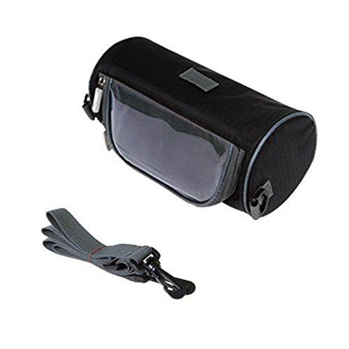 PINKAH Fahrrad-Touchscreen-Taschen, wasserdichte Lenkertaschen Schwarz