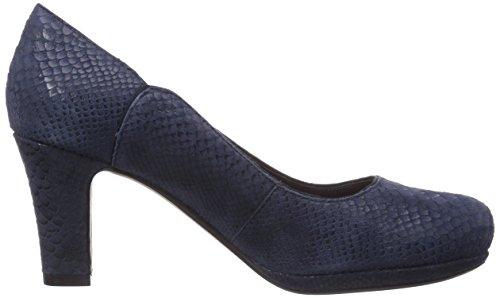 Clarks Chorus Nights, Escarpins femme Bleu (Navy Leather)