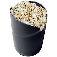 AOLVO Microondas Popcorn Popper, Recipiente Palomitas de Maíz en Microondas - Negro