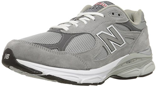 Balance Mens 990v3 Stability Running Shoes, Width 2A, Grey with White