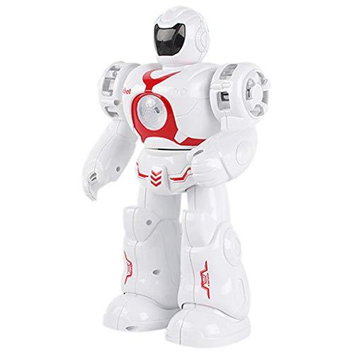 (Fcostume Elektronischer intelligenter Roboter-gehender Tanzen-Raum scherzt Musik-Licht-Spielwaren (Rot))
