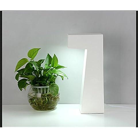 Lámpara de escritorio de acrílico creativo LED Escritorio de oficina de estudio Cama de dormitorio simple lámpara de mesa decorativa de arte geométrico