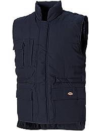Dickies BW11025 NV L Size Large Multi-Pocket Body Warmer - Navy Blue