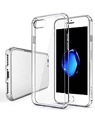 iPhone 7 Funda, SAVFY® Choque Tecnología de la Absorción Trasera y Anti-Arañazos Borrar Espalda de Transparente Funda Carcasa Case para Apple iPhone 7