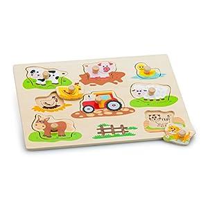 New Classic Toys 10537 Puzzle 8 Pieza(s) - Rompecabezas (Contour Puzzle, Animales, Niños, Niño/niña, 2 año(s), Interior)