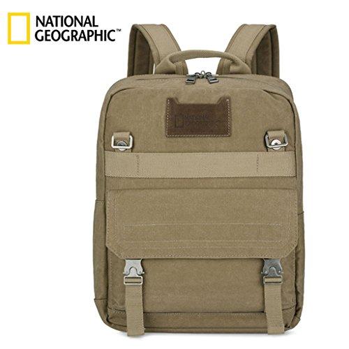 ZOUQILAI Western Cowboy National Geographic mochila Male Canvas gran capacidad mochila bolsa de viaje de ocio al aire libre (Color : Style D)