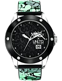 Marc Ecko Unisex Quartz Watch with Black Dial Analogue Display and Black Silicone Strap E09530G2