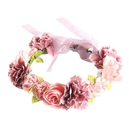 Shuda Blumenkranz,Blumen Stirnband Blumenkrone Boho Blumen Haarkranz Brautbrautjungfern Haarband...