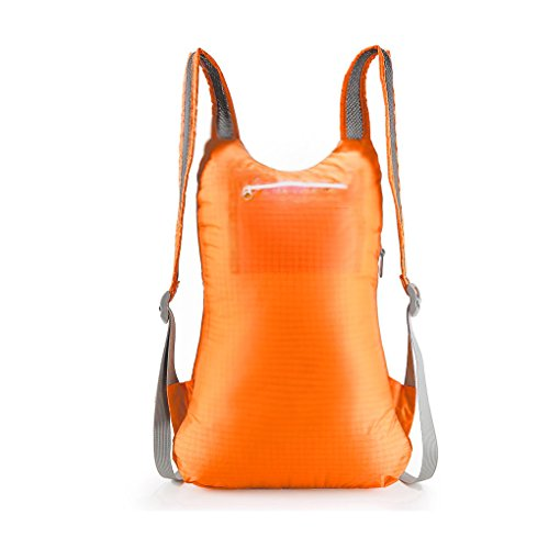 unimango Ultra Light Packable handliches Reise Rucksack wasserabweisend Tagesrucksack Outdoor Umhängetaschen 14L Gelb - gelb