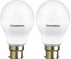 Crompton B22 LED-12WDF-CDL-BI 12-Watt LED Lamp (Pack of 2, Cool Day Light)