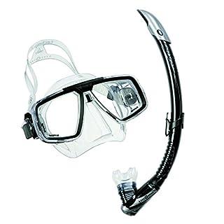 Aqualung Schnorchelset bestehend aus Maske Look und Schnorchel Zephyr (Farbe: schwarz)