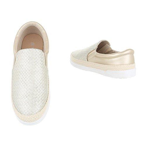 Ital-Design - Pantofole Donna Gold 688-Y