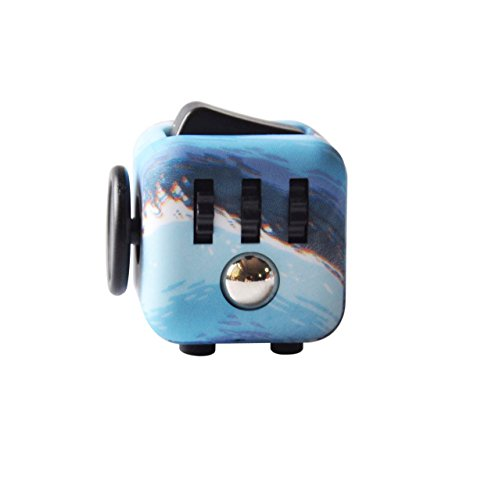 Highline Fidget Cube Fidget Toy for ADD and Stress Relief Fidget Sensory toys for Adults and Children (Ocean)