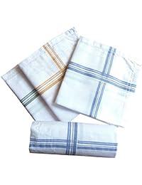 Indiacrafts Cotton Handkerchiefs for Men Set of 6 Pieces