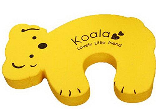 Cartoon bébé sécurité Doorstop empêcher Nipping main (Koala jaune)