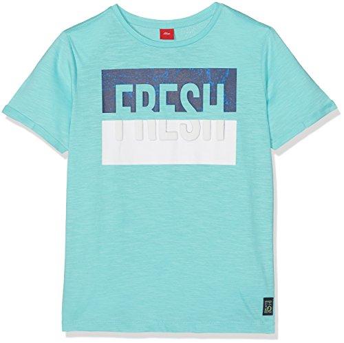 s.Oliver Jungen T-Shirt 61.802.32.6078, Türkis (Turquoise 6141), 152 (Herstellergröße: M/REG)