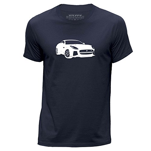 STUFF4 Men's Large (L) Navy Blue Round Neck T-Shirt/Stencil for sale  Delivered anywhere in Ireland