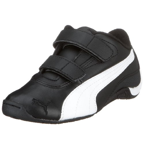 PUMA 303229 07 Drift Cat II L V Kids, Unisex - Kinder Sneaker Schwarz (Black-White) 21 (Puma Drift Cat Ii)