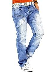 Kosmo Lupo - Jeans - Jambe droite - Homme Bleu Bleu