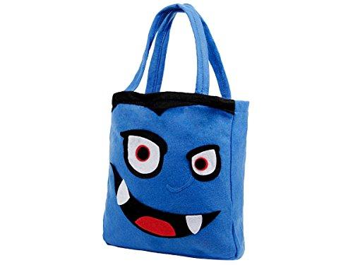 ten Beutel Tasche Candy Bag Süßes oder Saures Sammeltasche von Alsino, Variante wählen:P977095 Vampir blau (Halloween-süßigkeiten-taschen)