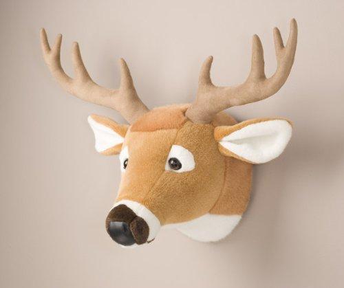 Animal de peluche cabeza de ciervo montaje en pared cazador Nursery