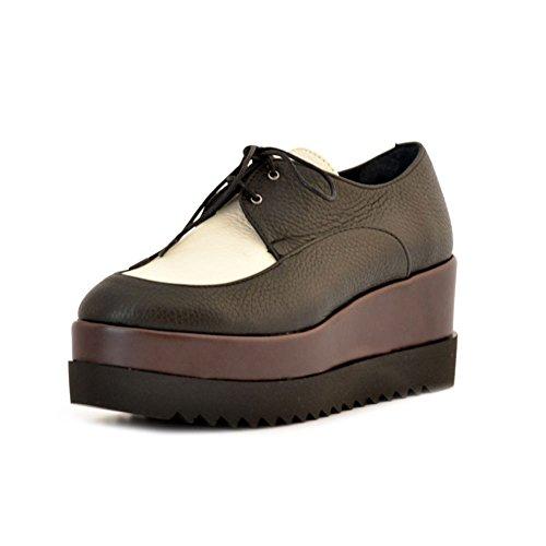 Pollini SA10177I12TH100A Chaussures à Lacets Femme Noir