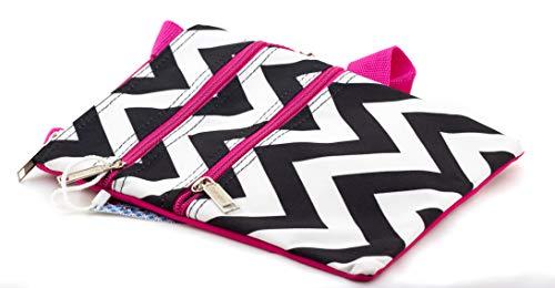 sbody-Tasche, (Chevron - Black & White/Pink Trim), Einheitsgröße ()
