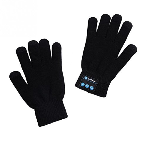 hmilydyk Bluetooth Handschuhe Winter Touchscreen Handwärmer Handschuh Headset w/integrierter Lautsprecher & Mikrofon Best, Weihnachts Geschenk für Damen Herren, schwarz