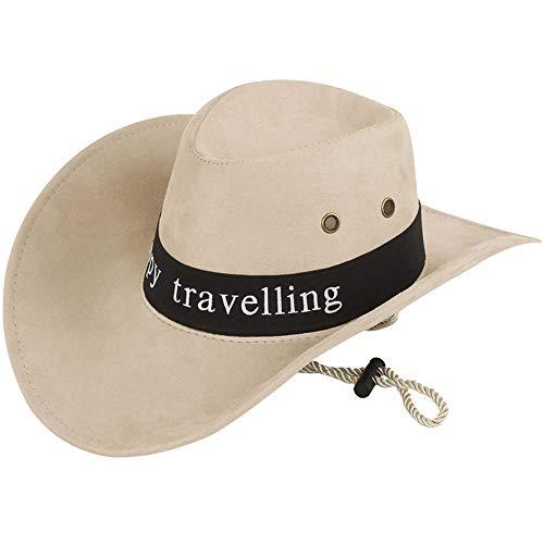 rte Cowboy-Hut Personalisierte Western Wide Brim Hut mit Gurt Männer Frauen Cowboy Kostüm Zubehör ()