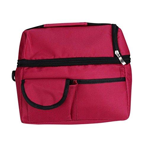 ZumZup Sac Repas Lunch Bag Sac à Déjeuner Sac Fraîcheur Portable Isotherme Sac Fraicheur En Oxford Imperméable Sac à Pique-nique Rouge 3KVGf
