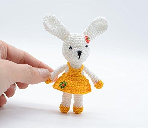Juguete de conejo con vestido amarillo, conejitos de...