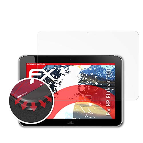 atFolix Schutzfolie passend für HP Elitepad 900 Folie, entspiegelnde & Flexible FX Bildschirmschutzfolie (2X)
