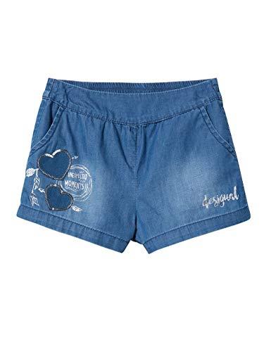Desigual girl denim short trousers (denim_buendia), pantaloncini bambina, blu (jeans 5006), 152 (taglia produttore: 11/12)