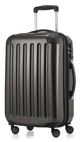 HAUPTSTADTKOFFER - Alex -  4 Doppel-Rollen Handgepäck Hartschalen-Koffer Trolley Rollkoffer Reisekoffer, TSA, 55 cm, 42 Liter, Graphit