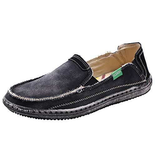 FRAUIT Mocassini Uomo Eleganti Estivi Canvas Loafers Men Slip On Casual Pantofole Uomini Chiuse Estive Scarpe Antinfortunistica Ragazzo Leggere E Traspirante Espadrillas