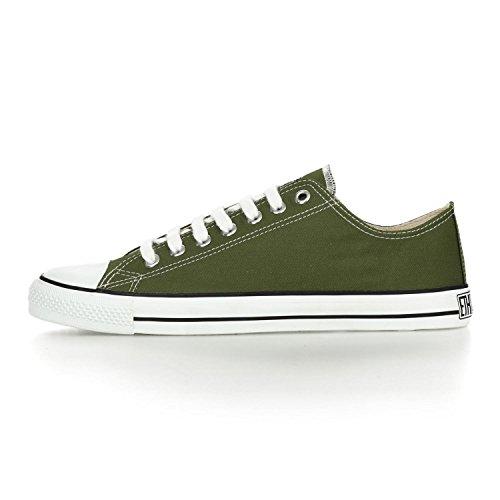 Ethletic Sneaker LoCut – camping green / white – nachhaltig, fair & vegan - 3